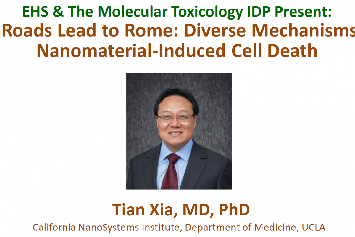 Photo of Tian Xia, title, and talk